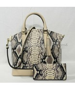 SET Brahmin Large Duxbury Satchel/Shoulder Bag + Ady Wallet in Latte Bal... - $439.00