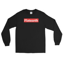 Flatearth Red Box Logo Long Sleeve Shirt NASA Flat Earth Funny Meme Savage New - $22.49