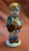 """Vintage Boy With Toy Pony Porcelain Figurine Made in Occupied Japan 3"""""""