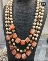 Indian Bollywood Bridal Long Haram Necklace Jewelry CZ Raani Haar Pearl ... - $75.99