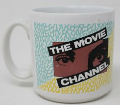 The Movie Channel Vintage Cable TV White Coffee Mug Tea Cup Rare - $23.23