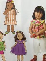 Butterick Sewing Pattern 6047 Girls Top Dress Shorts Pants Size 1-4 New - $16.76