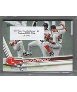 Lot of 12 Team Sets! 2017 Topps Boston RED SOX Team Set Both Series 1 & ... - $22.44