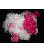 Ty Classic Crush Puppy Dog 2005 Plush Stuffed Animal White Pink Heart Hugs  - $12.75
