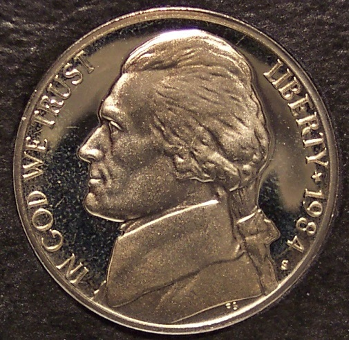 Primary image for 1984-S DCAM Proof Jefferson Nickel PF65 #0243