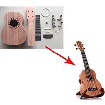 Zimo®Make Your Own Sapele Four Strings Ukulele DIY Soprano Hawaii Ukulel... - $55.49