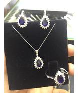 1.90Ct/SI3/F Diamond Necklace + Earrings SET 18... - $3,200.00