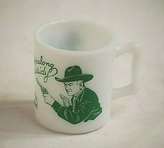 Hopalong Cassidy 1950's Western Cup Mug D~Handled Hazel Atlas Green TV Actors - $42.56