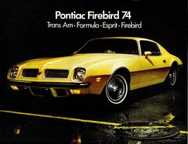 1974 Pontiac Firebird yellow | 24 X 36 inch poster  - $18.99