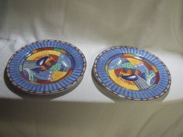 """Two Vintage Rare Hard To Find Johnson Brothers Caribb EAN 12 1/2"""" Chop Plates New - $64.35"""