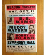 BB King Muddy Waters Bobby Bland  Poster 11 X 17 at Beacon Theatre Symph... - $18.80