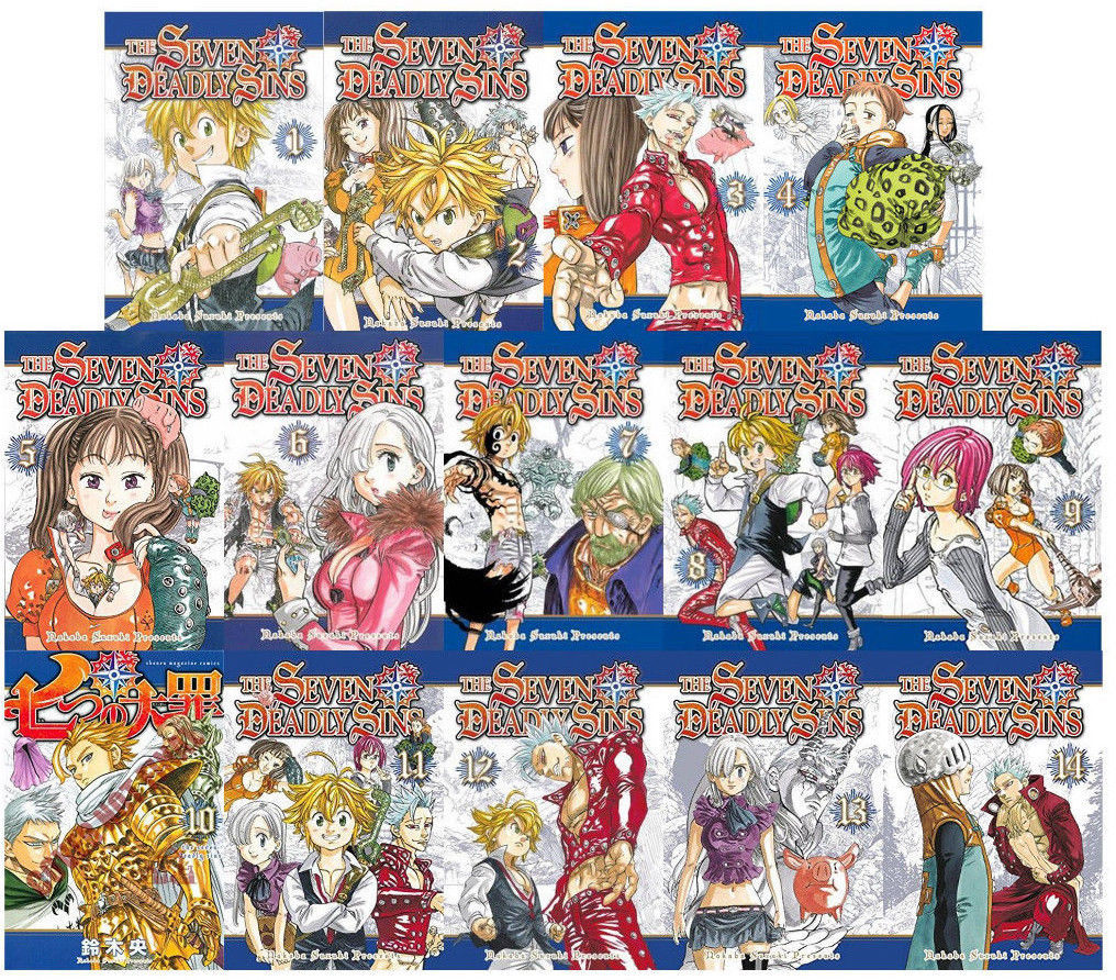 Primary image for The Seven Deadly Sins Manga Book Series By Nakaba Suzuki Volumes 1-14 Brand NEW