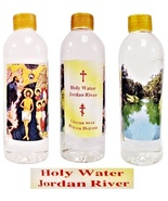 "Large Holy Water from Jordan River Bottle Size: 6.5"" x 2"" 10.14 oz/300 m... - $16.00"
