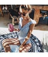 2019 Sexy Female Retro Neck Striped Beach Summer Pool Swimsuit Push Up S... - $16.45