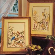 Summer Birds Cross Stitch Leaflet Book Color Charts 1990 Goldfinch Indigo - $10.99