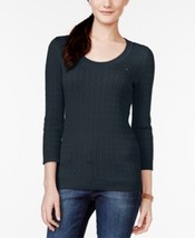 Tommy Hilfiger Jenny Scoop-Neck Cable-Knit Sweater, Navy, X-Large - €19,54 EUR