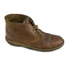 Clarks Originals Desert Beeswax Brown Leather Boots Shoes Men's 10 UK 10... - £35.58 GBP