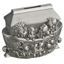 Noah's Ark Pewter Engravable Safe Piggy Bank with Coin Slot - $28.70