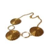 Golden Grass Mandala Necklace, Organic Hoop Necklace, Nature Necklace, W... - $33.60