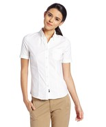 Stretch Oxford Shirt Slim Fit L Lee Uniforms White S/S Button Front Coll... - $29.37