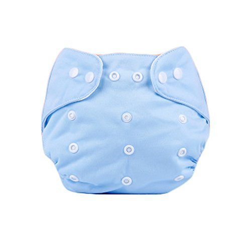 Cute Baby Diaper Cover One Size Diaper Cover with Snap Closure (3-13KG,Blue)