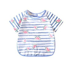 Stylish Practical Baby Waterproof Feeding Bib, Watermelon, 110-120cm Height