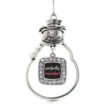 Inspired Silver Perfectly Imperfect Classic Snowman Holiday Decoration C... - $14.69