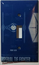 Star Wars Imperial Tie Fighter Light Switch Outlet wall Cover Plate Home Decor image 1