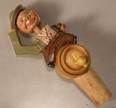 Anri Carved Wood Cork Hat Tipper - $15.00