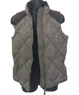 Tommy Hilfiger Brown Herringbone Quilted Puffer Vest Small S - $149.99