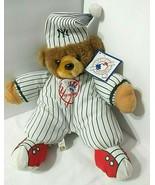 MLB Plush Bedtime Bear NEW YORK YANKEES Childrens Stuffie Vtg Good Stuff... - $19.75