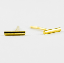 5 pairs of Bar Golden Stud Earring Stud (NED079A)  - $12.50