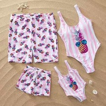 Family Matching Clothes outfits pineapple Striped Matching Swimsuit Dad ... - $19.30