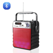 Universal Portable Boombox Bluetooth Multi-Color Speaker In Red - $45.29 CAD