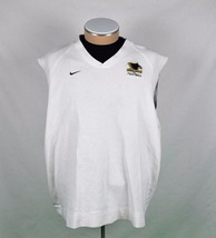 Nike Men's Michigan Tech Football Pull-Over Golf Sweater Vest White Size XL - $9.74