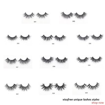 Visofree Eyelashes 3D Mink Lashes Luxury Hand Made Mink Eyelashes Medium... - $11.99