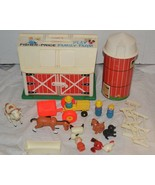 Vintage Fisher Price Little People Play Family Farm 915 Silo Moo Barn An... - $149.59