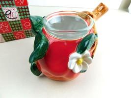 Apple Tea Light Candle Holder Ceramic - $17.63