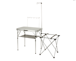 Outdoor Portable Camping Kitchen Prep Table Lightweight Cook Station Car... - $92.94