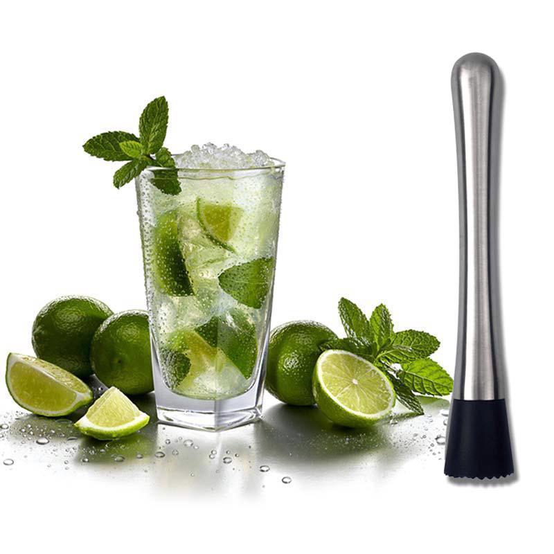Stainless Steel Muddler Cocktail Mojito Bar Barware Drink Mixer Mixing Tool