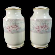 Noritake Salt and Pepper Magnificence Pattern 9736 Bone China Japan Crea... - $41.38
