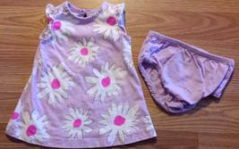 Girl's Size NB Newborn Circo Two Piece Purple Floral Designed Dress & DC... - $13.00
