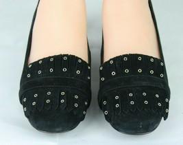 Nine West women's shoes loafer leather upper black medium heel size 9M image 2