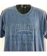 Pepsi 100 Percent Satisfaction Official Trademark Blue Mens Large XL Tee... - $29.99