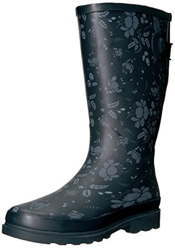 Western Chief Women Wide Calf Rain Boot Slate Satin