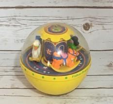 Fisher Price Chime Ball Yellow 1150 1985 - $19.63