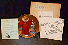 """""""Tommy the Clown"""" by John McClelland Commemorative Plate Recco  AA20-CP2289 Vint image 2"""