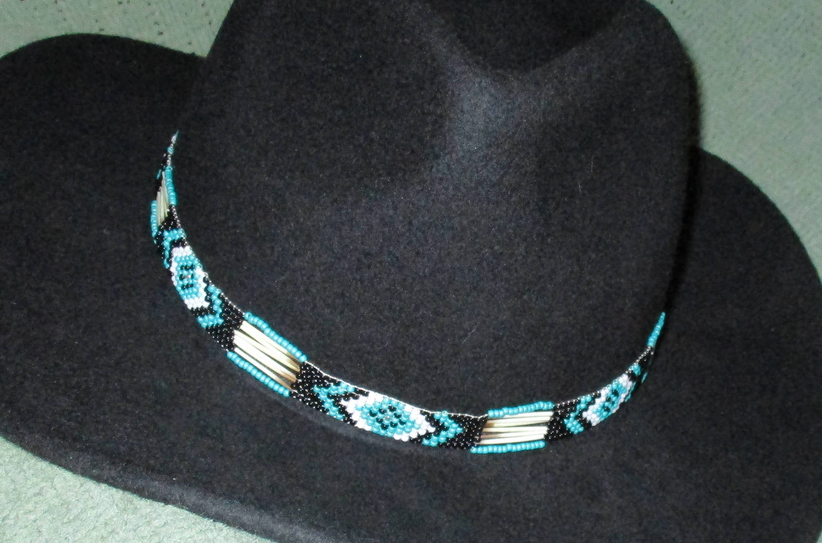 """American Made! Southwestern Style! """"One Eye Turquoise """" with Porcupine Quills"""