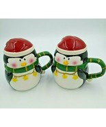 2x Bella Casa by GANZ Holiday Penguin Beverage / Soup Mug with Lid  BC11062 - $24.99