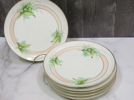 Set 6 Havilland Limoges France Hand Painted Stouffer Lily of the Valley Plates - $217.80